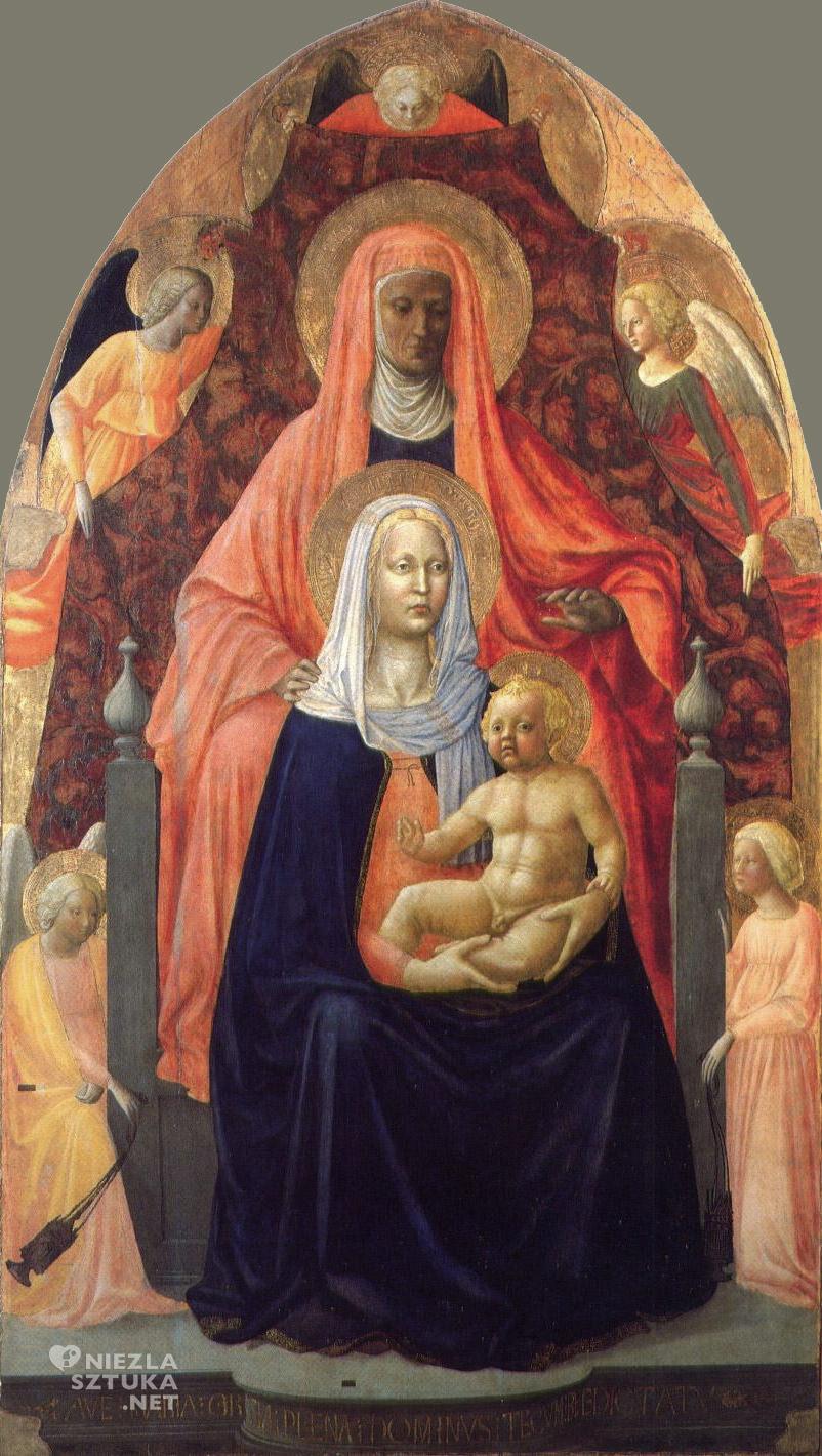 Masaccio i Masolino Św. Anna Samotrzeć |1424-25, Galeria Uffizi