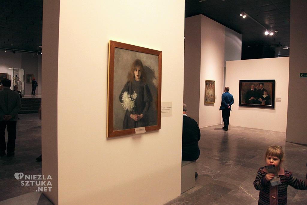 Olga Boznańska, Dziewczynka z chryzantemami, malarstwo polskie, polska sztuka, Niezła Sztuka