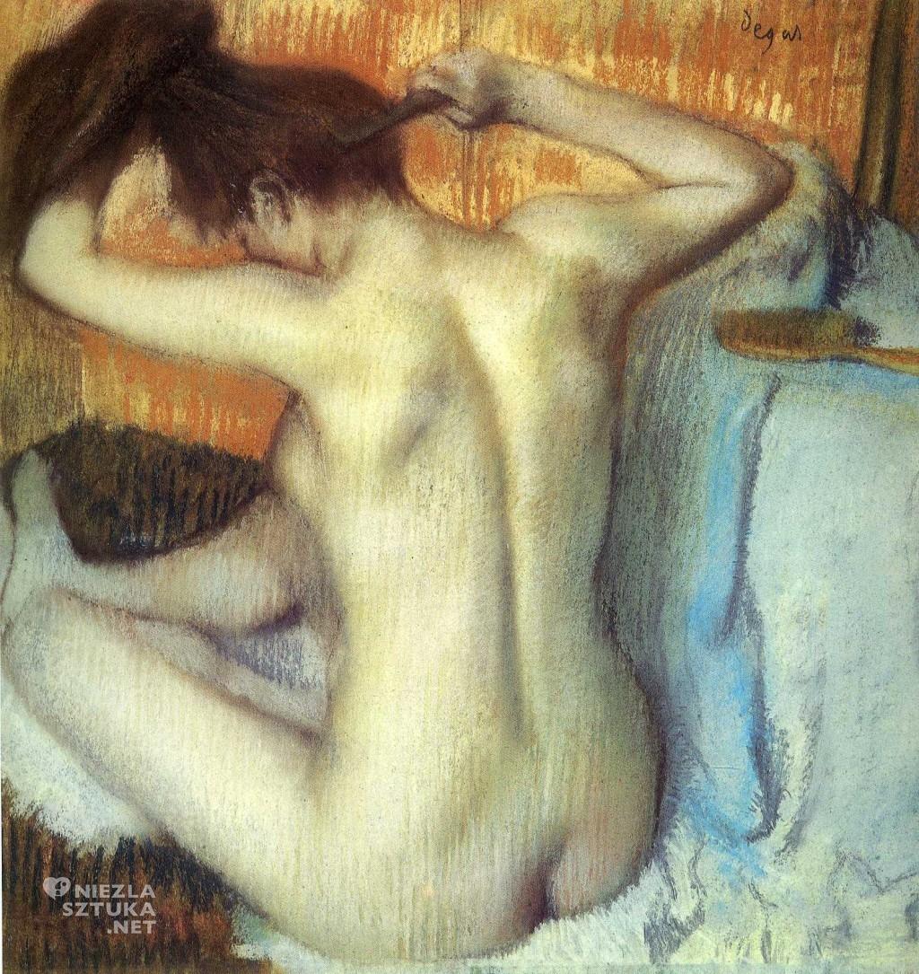 Edgar Degas, Czesząca się, impresjonizm,malarstwo francuskie, sztuka światowa, Niezła Sztuka