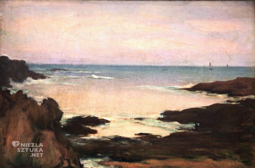 Władysław Ślewiński, Brzeg morza w Bretanii, malarstwo polskie, polska sztuka, Niezła Sztuka