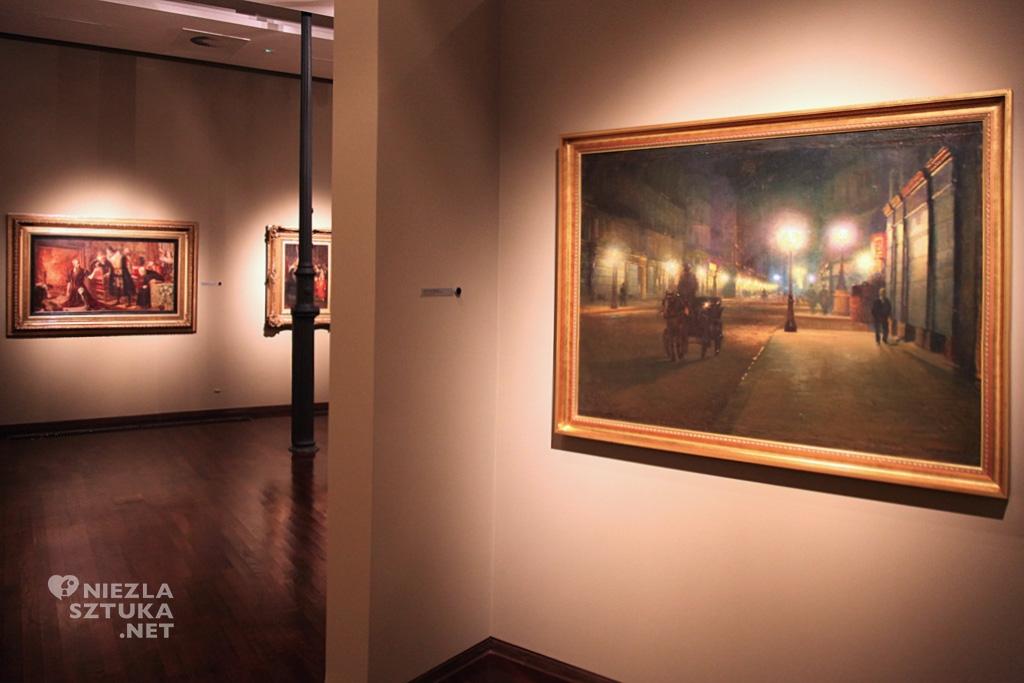 Ludwik de Laveaux, Paryż w nocy, Muzeum Pałac Herbsta, sztuka polska, muzea polskie, Niezła Sztuka
