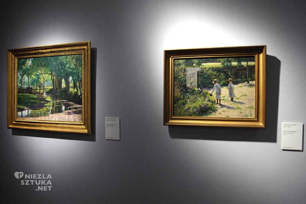 Władysław Podkowiński, Dzieci w ogrodzie, Muzeum Narodowe w Poznaniu, polska sztuka, polskie muzea, Niezła Sztuka