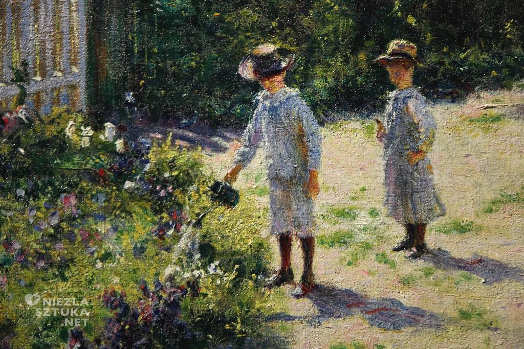 Władysław Podkowiński, Dzieci w ogrodzie, detal, sztuka polska, Niezła Sztuka