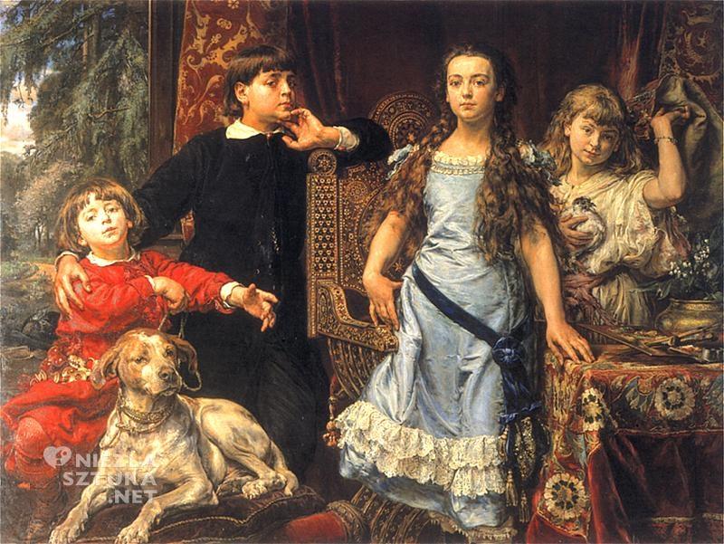Jan Matejko Portret czworga dzieci artysty