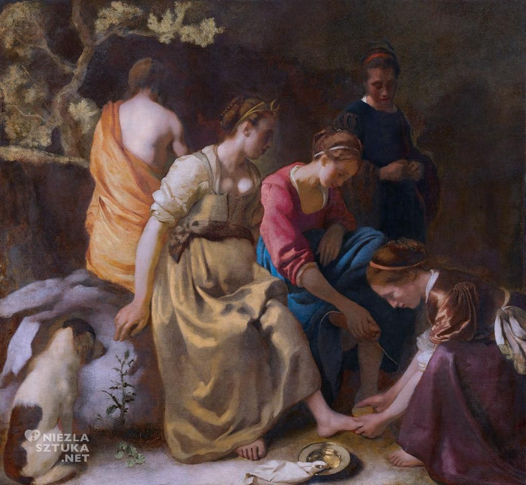 Johannes Vermeer Toaleta Diany, ok. 1653-56, Mauritshuis, Haga