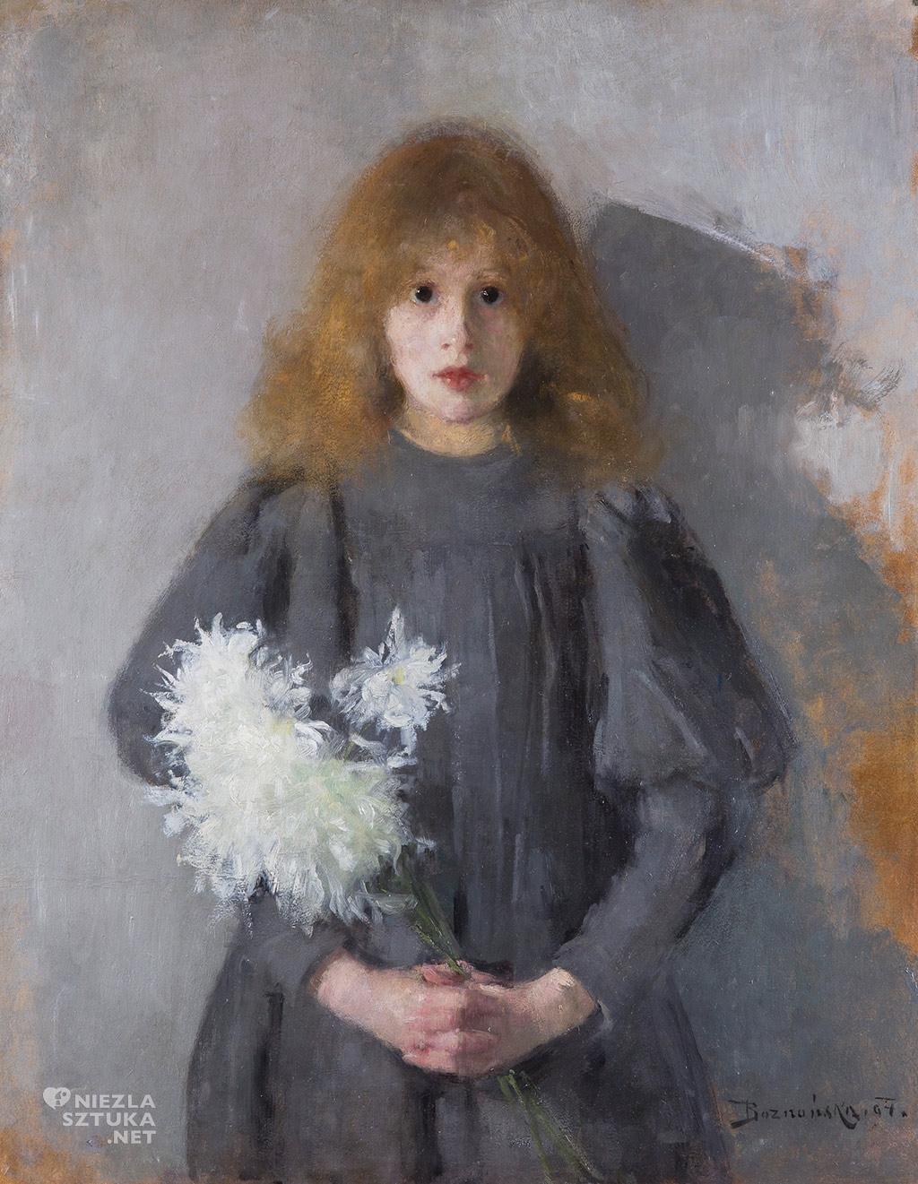 Olga Boznańska Dziewczynka z chryzantemami, 1894
