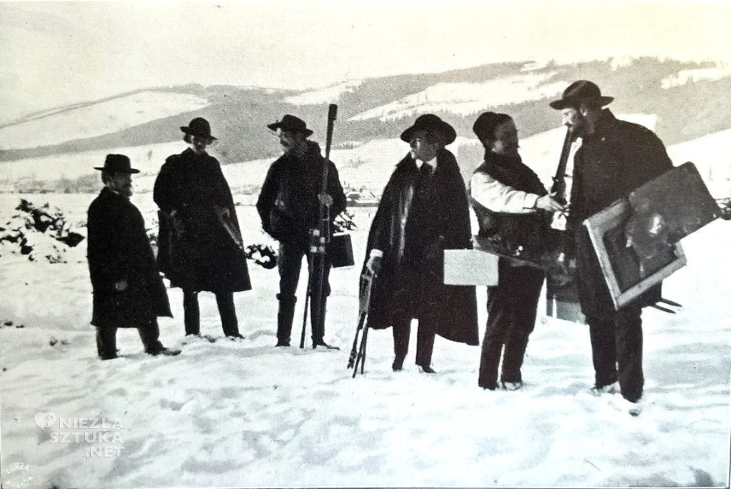 Jan Stanisławski z uczniami podczas pleneru w Zakopanem, ok. 1906, Muzeum Narodowe w Krakowie