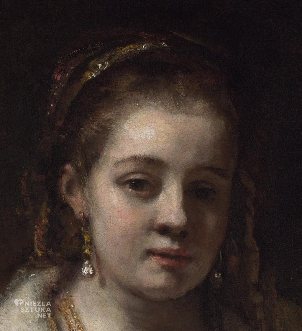 Rembrandt Portret Hendrickje Stoffels, detal | ok. 1654-6, National Gallery, Londyn, fot.: rembrandtfecit2.blogspot.com