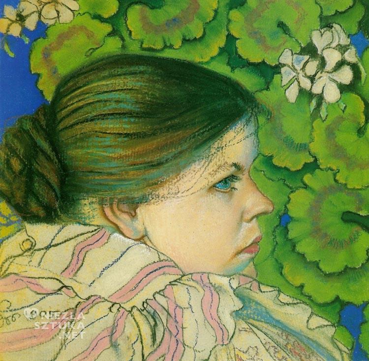 Stanisław Wyspiański, Portret żony z pelargoniami | 1905, fot.: agraart.pl