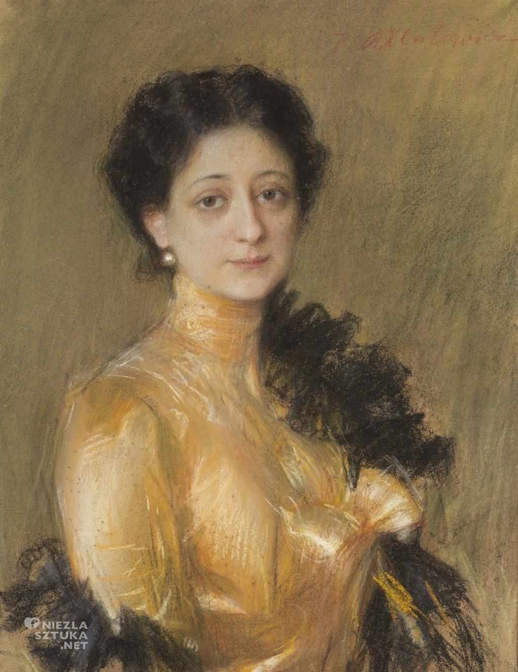 Teodor Axentowicz Portret pani P. | ok. 1905, MNW