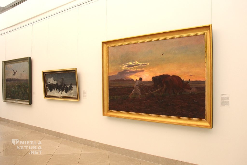 Józef Chełmoński, Orka, Muzeum Narodowe, malarstwo polskie, sztuka polska, polskie muzea, Niezła Sztuka