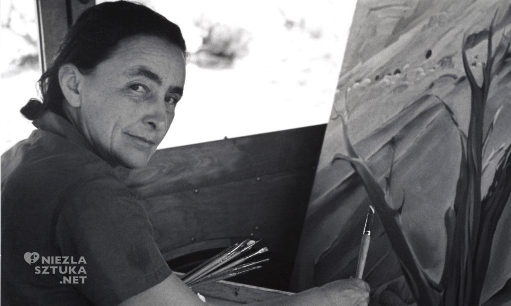 Georgia O'Keeffe w obiektywie Ansela Adamsa, fot.: theguardian.com