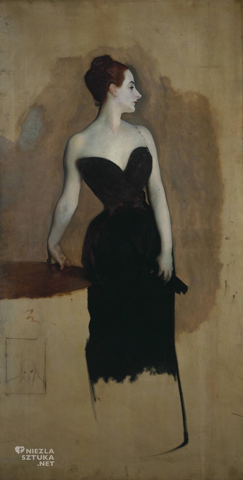John Singer Sargent Studium do obrazu <em>Madame X</em> | 1884 <br> Tate Gallery