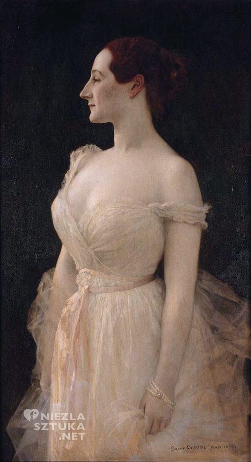 Gustave Courtois <em>Portret pani Gautreau</em> | 1891, <br /> olej na płótnie, 106,0 × 58,5, Musée d'Orsay