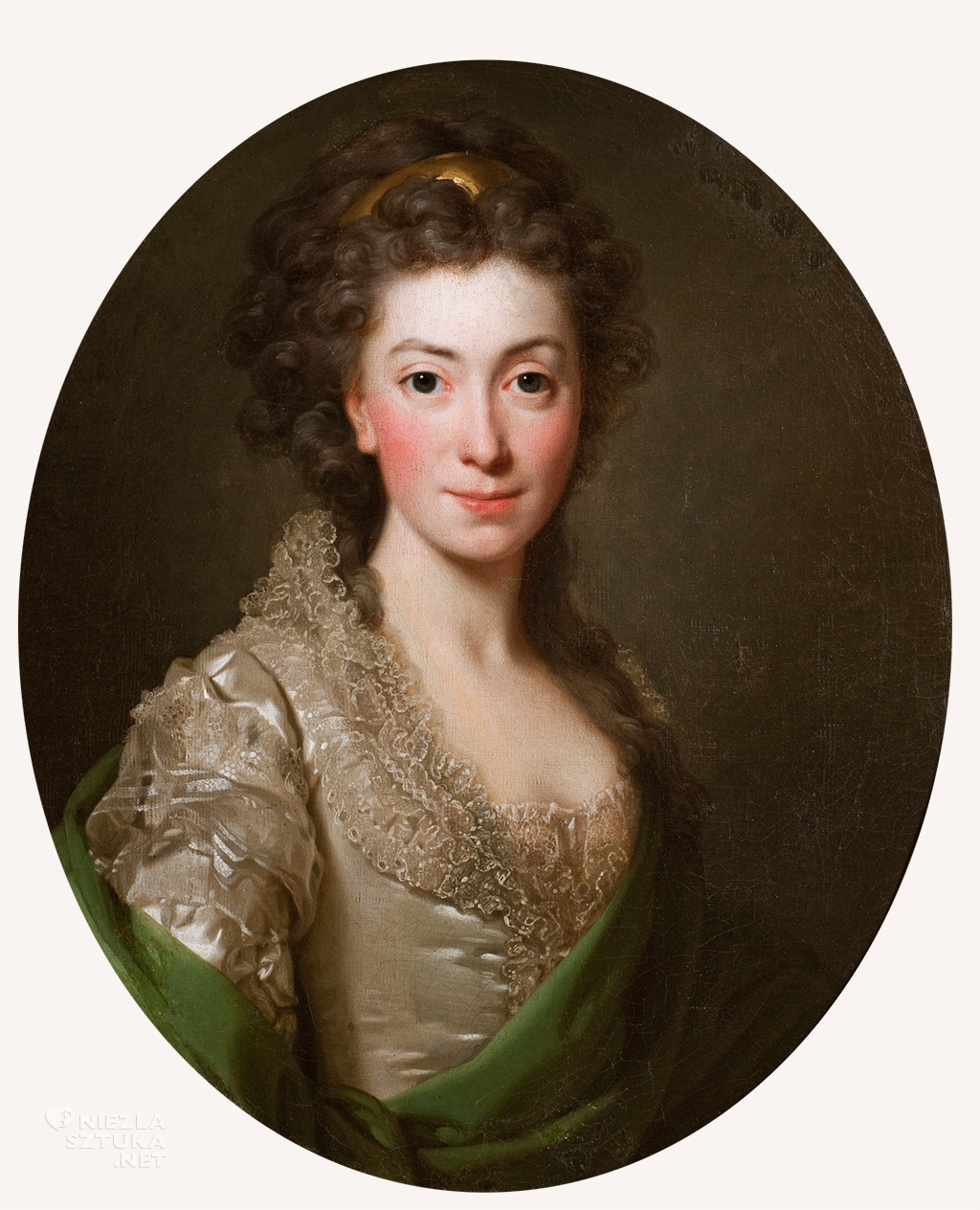 Alexander Roslin <em> Portret Izabeli z Flemingów Czartoryskiej</em> | 1794, <br> Muzeum Narodowe w Krakowie, nr inw. MNK XII-a-616