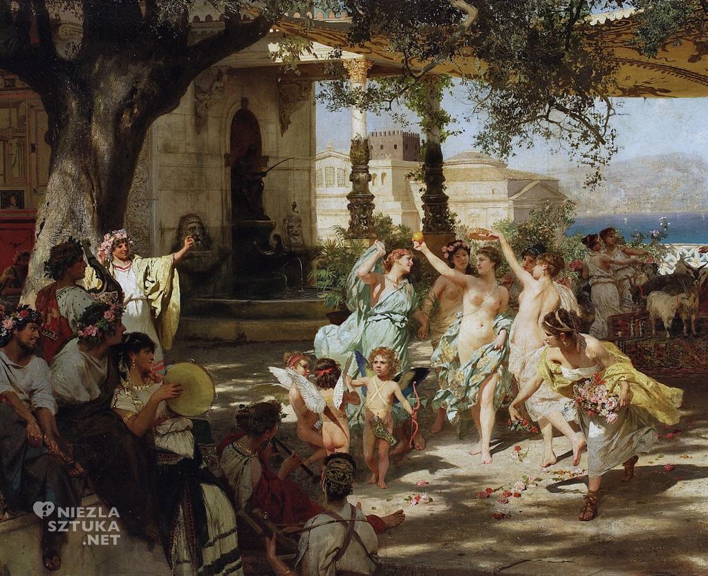 Henryk Hektor Siemiradzki <em>Sąd Parysa</em>, detal | 1892 <br /> olej na płótnie, 227 × 99 cm, Muzeum Narodowe w Warszawie