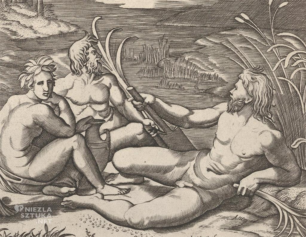 Marcantonio Raimondi, Sąd Parysa (fragment)|1514-1515, British Museum w Londynie