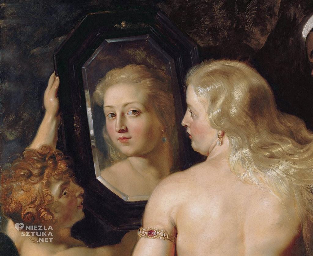 Peter Paul Rubens <em>Wenus przed lustrem</em>, detal | ok. 1615, <br>olej na desce, 124 × 98 cm, Liechtenstein Museum, Wiedeń