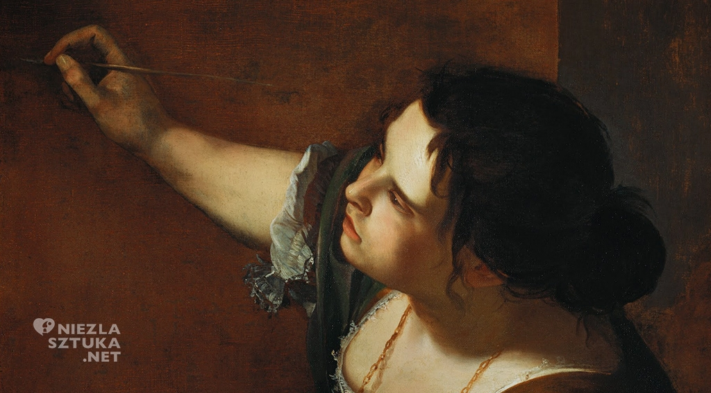 Artemizja Gentileschi <em>Autoportret jako Alegoria malarstwa</em>, detal | 1638-39, <br /> Royal Collection Trust, UK
