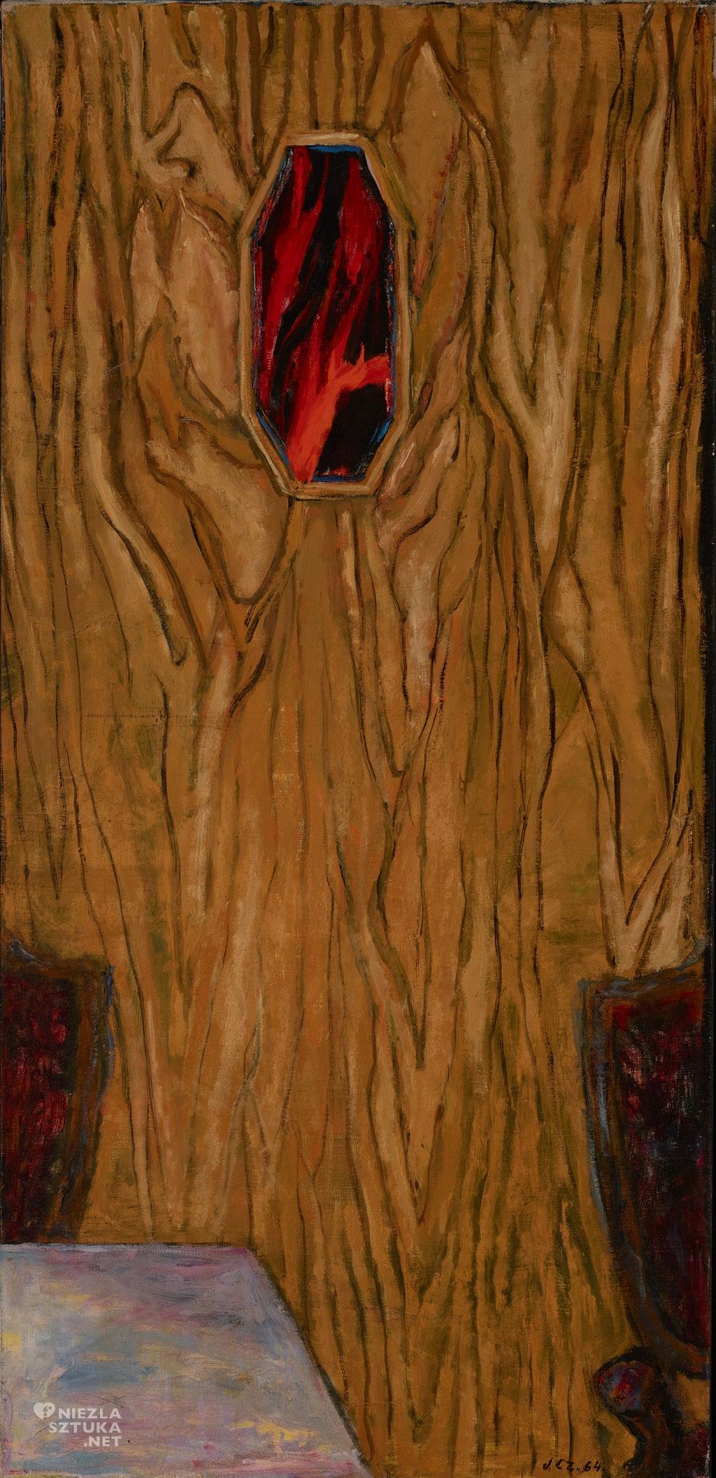 03-Lustro-na-drewnianych-drzwach,-1964