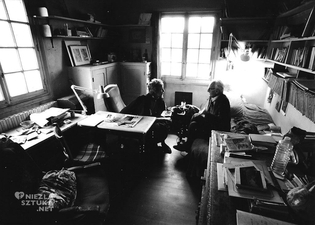 Maria Paczowska i Józef Czapski, Maisons-Laffitte, 1987 (fot. B. Paczowski), wojciechkarpinski.com