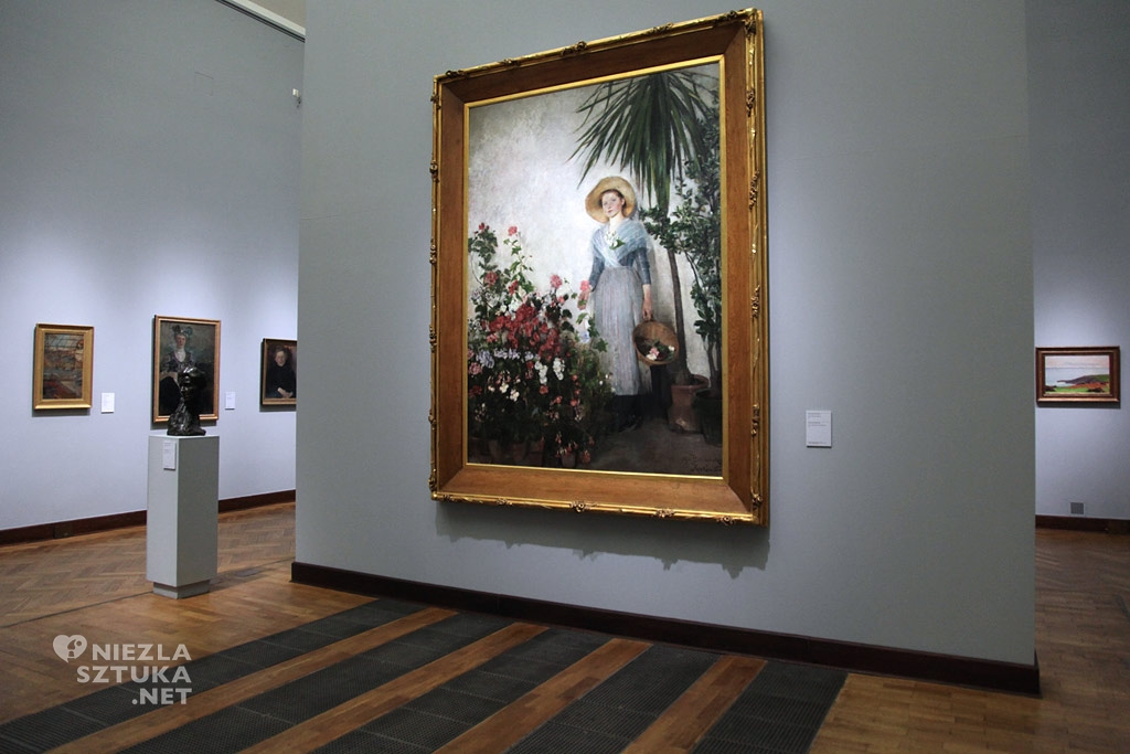 Olga Boznańska, W oranżerii (W cieplarni), Muzeum Narodowe w Warszawie, polska sztuka, polskie muzea, Niezła Sztuka