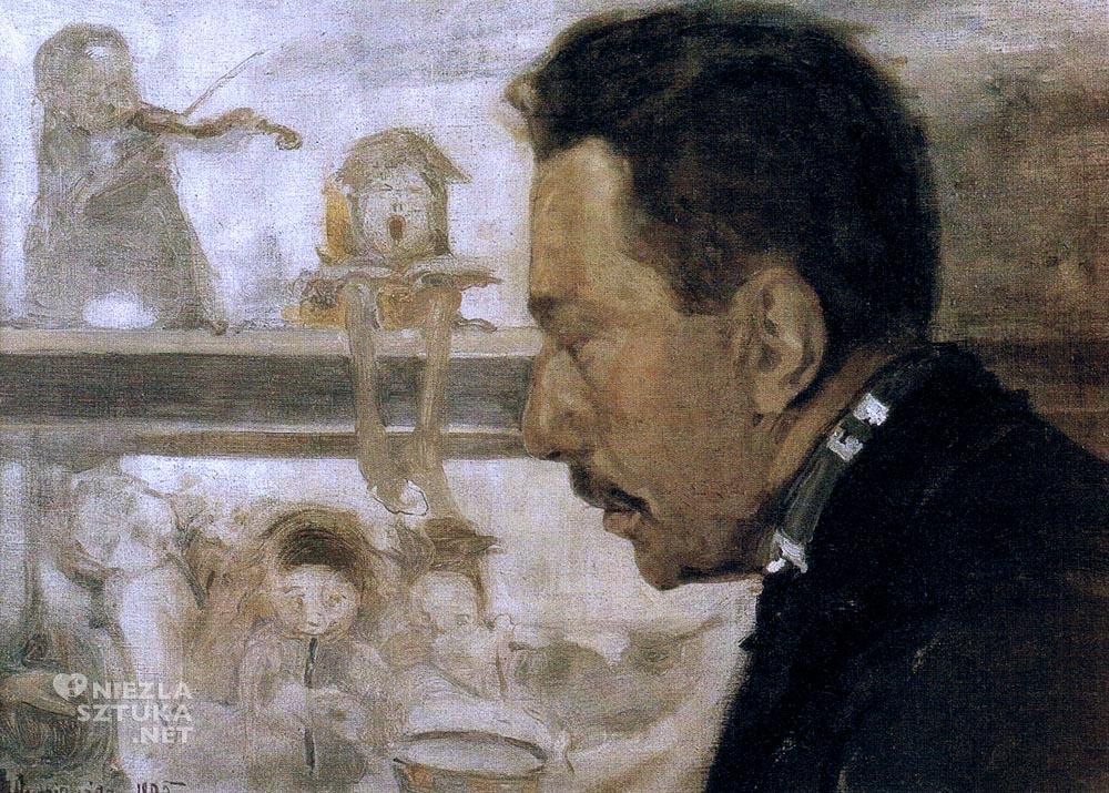 Witold Wojtkiewicz Portret muzyka Bolesława Raczyńskiego | 1905, olej, płótno naklejone na tekturę, 47 × 66