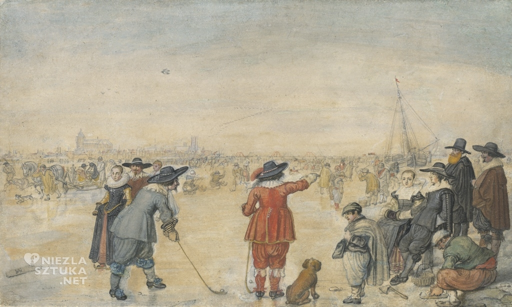 Hendrick Avercamp Zabawy zimowe na zamarzniętej rzece Ijssel | ok. 1626, National Gallery of Art, Waszyngton