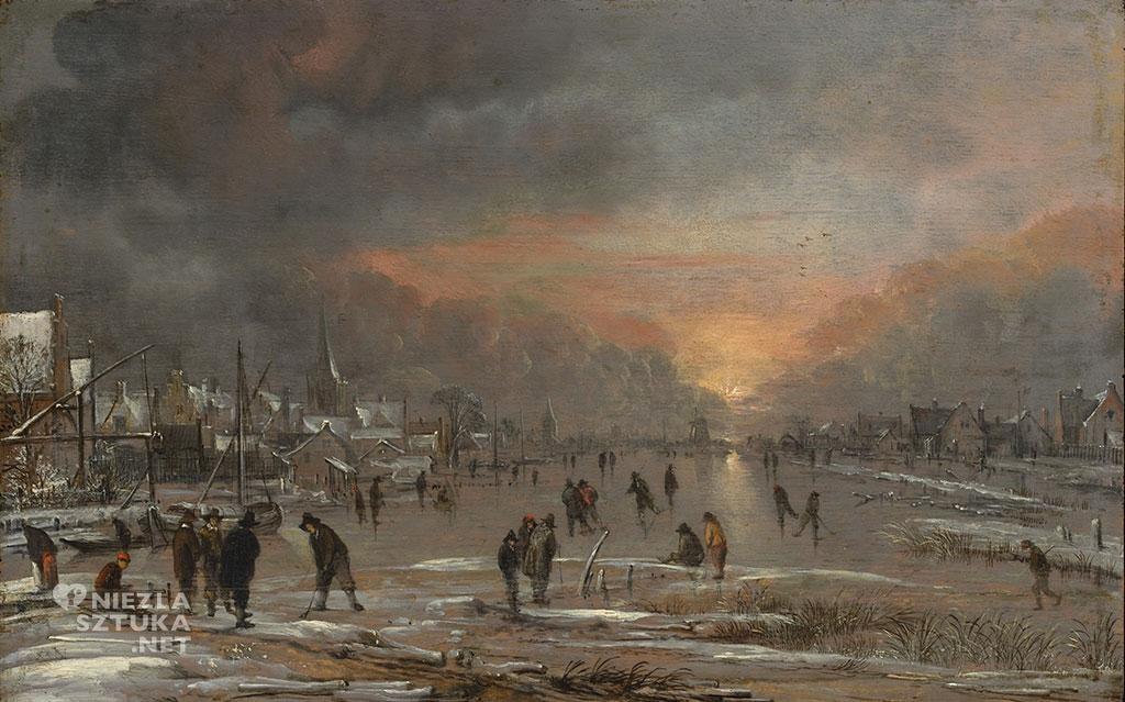 Aert van der Neer Sport na zamarzniętej rzece | ok. 1660, Metropolitan Museum of Art, Nowy Jork