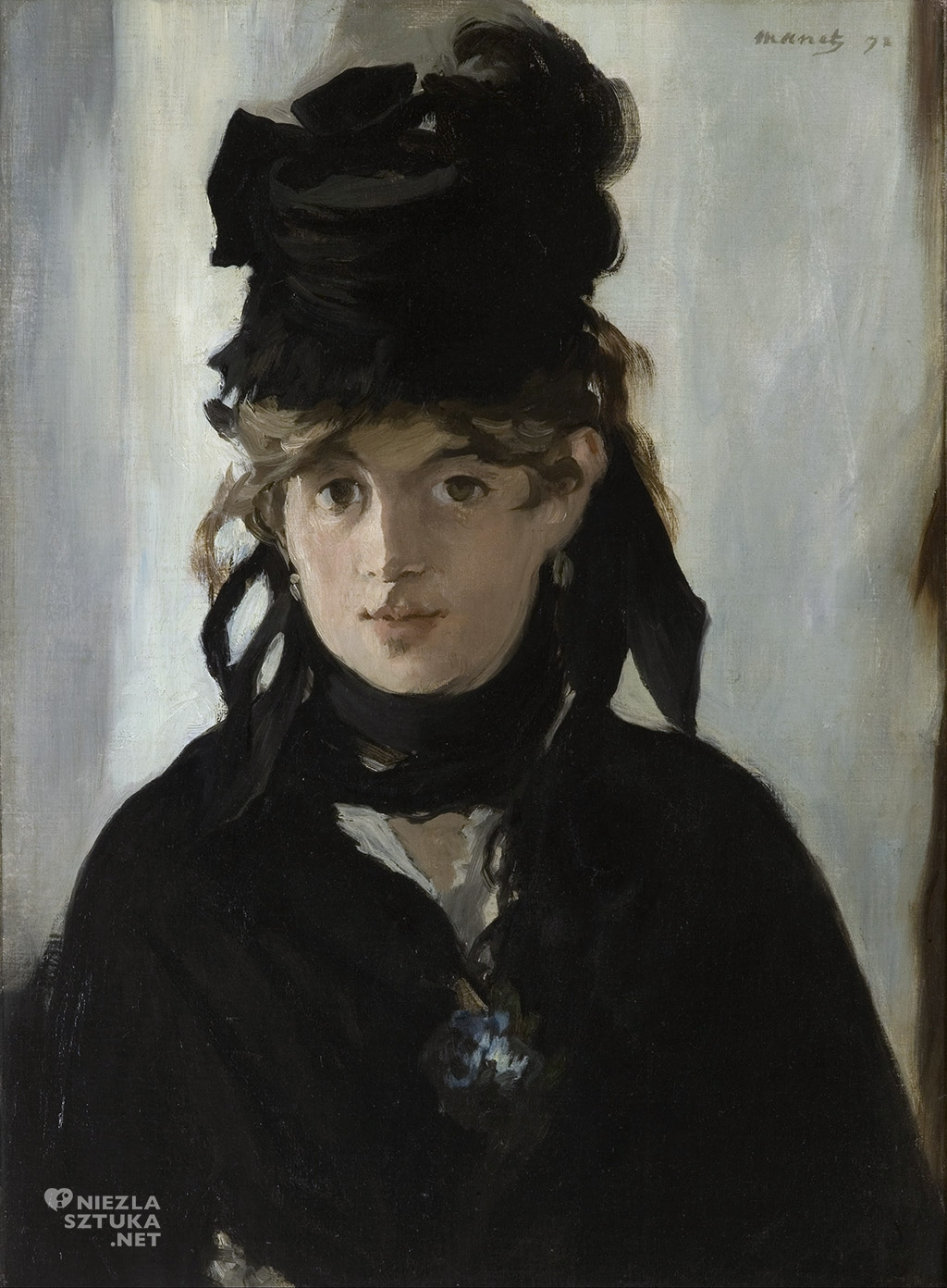 Edouard Manet Berthe Morisot z bukietem fiołków | 1872, Musée d'Orsay