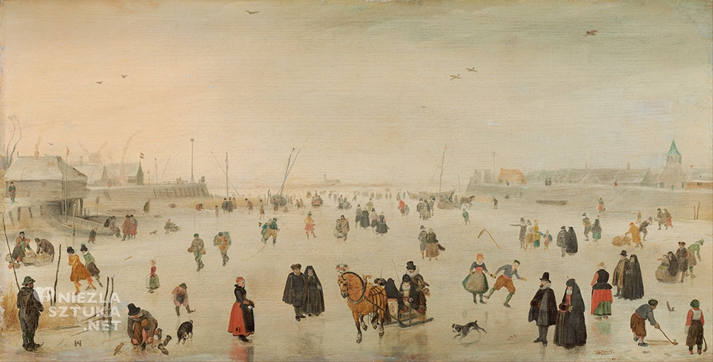 Hendrick Avercamp Scena na lodzie | ok. 1625, National Gallery of Art, Waszyngton