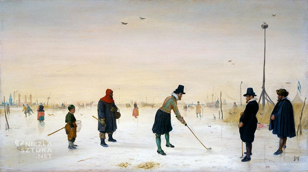 Hendrick Avercamp Gracze na lodzie | ok. 1625