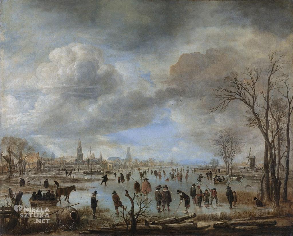 Aert van der Neer Widok rzeki zimą | ok. 1655 - ok. 1660, Rijksmuseum, Amsterdam