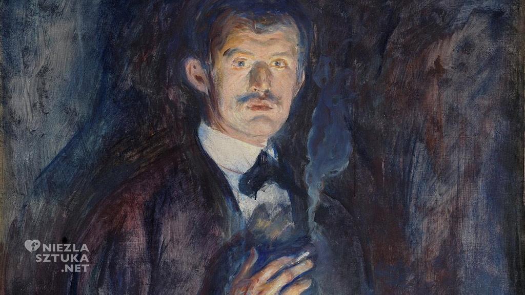 Edvard Munch <em>Autoportret z papierosem</em> | 1895