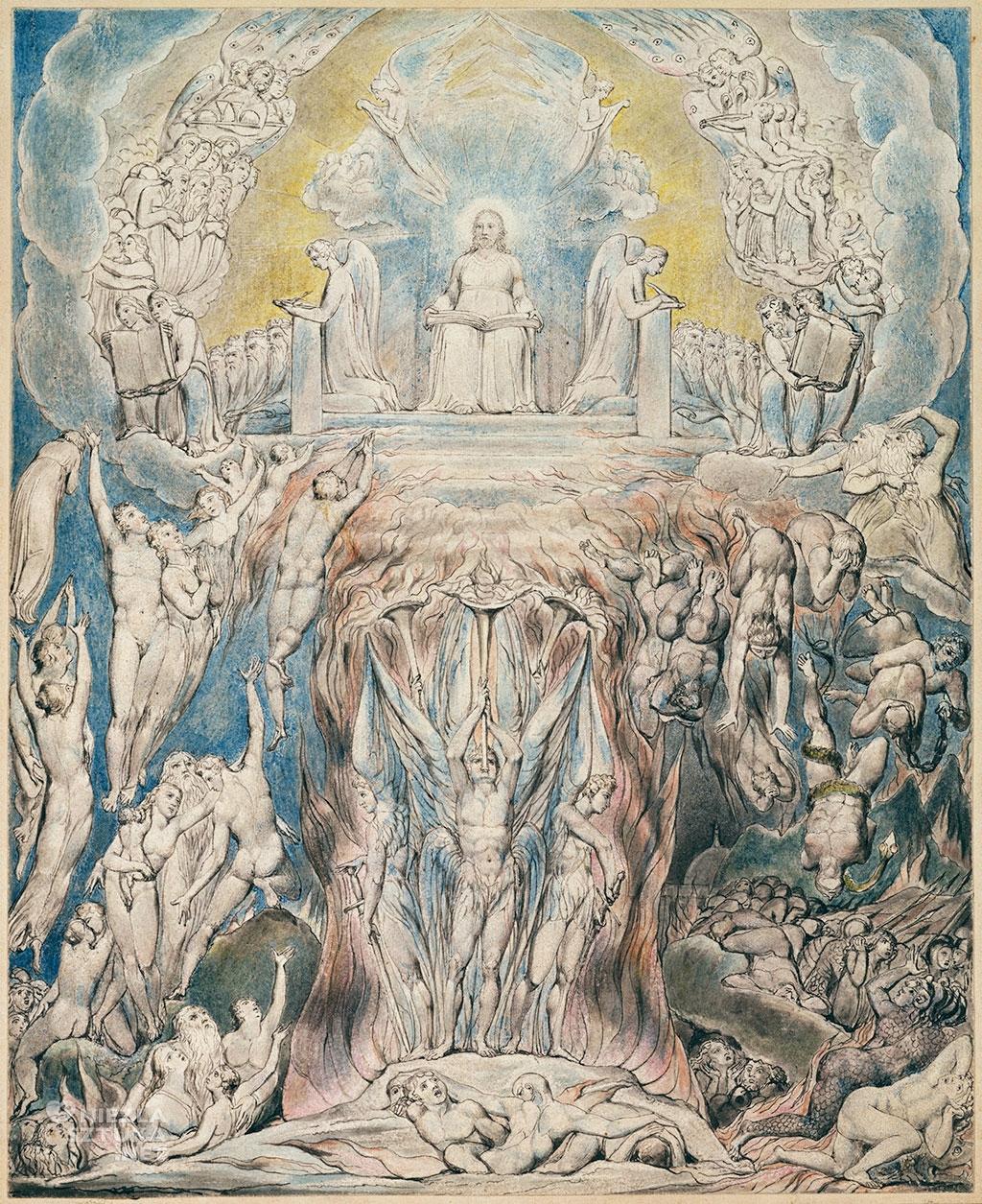 William Blake Wizja Sądu Ostatecznego (A Vision of the Last Judgement). Akwarela do dzieła Grób Roberta Blaira | 1805, fot. Wikimedia