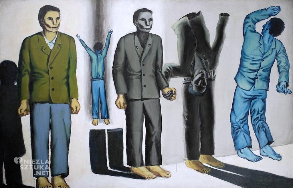 Andrzej Wróblewski <em>Rozstrzelanie VIII (surrealistyczne)</em> | 1949, olej na płótnie, 130 × 199 cm, Muzeum Narodowe w Warszawie