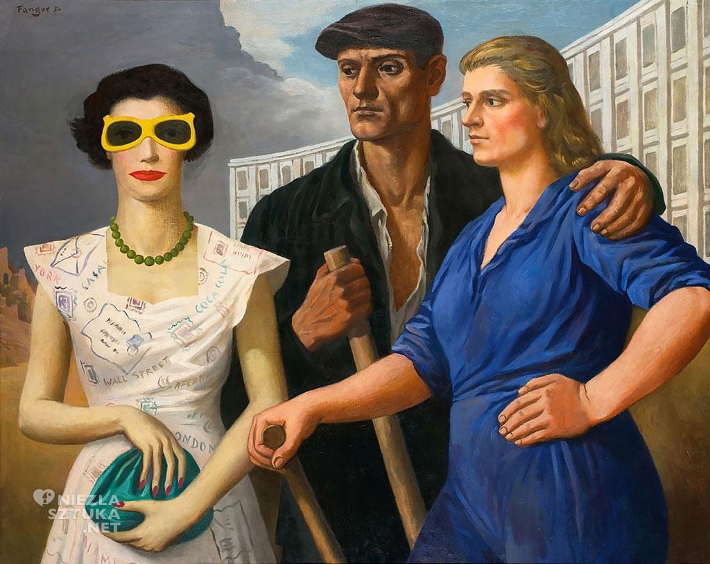 Wojciech Fangor <em>Postaci</em>   1950, olej na płótnie, 100 × 125 cm, fot. Muzeum Sztuki w Łodzi