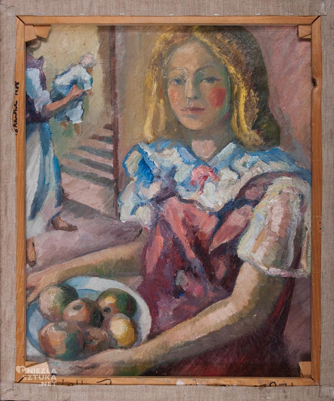 Mela Muter Dziewczyna z koszem jabłek, Muzeum Miasta Łodzi