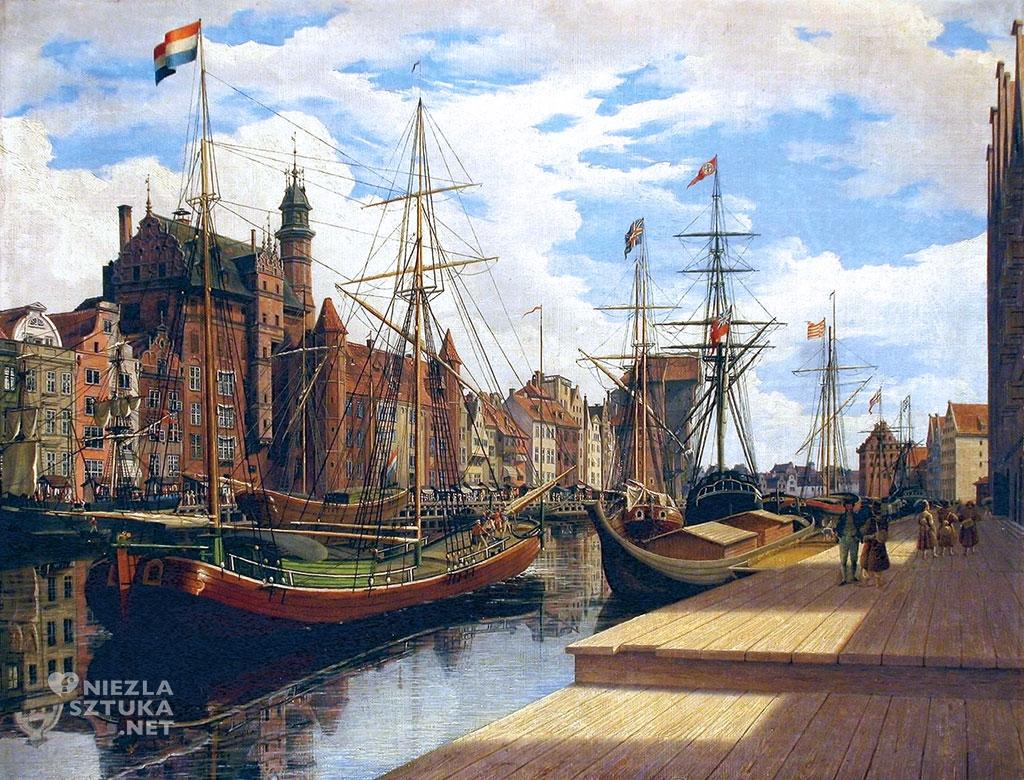 Johann Carl Schultz Długie Pobrzeże w Gdańsku | 1837