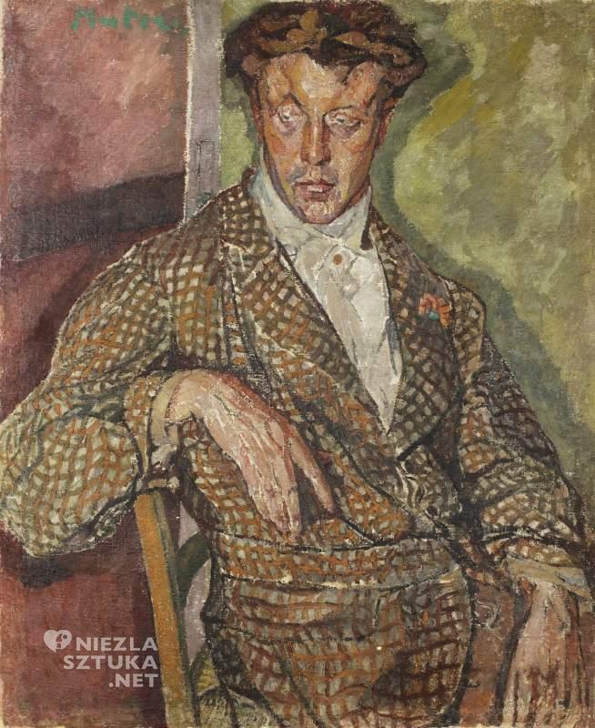 Mela Muter <em>Portret Anglika (Mr. Barnesa?)</em> | ok. 1918/1919 olej na płótnie 112,5 × 93 cm, UMK