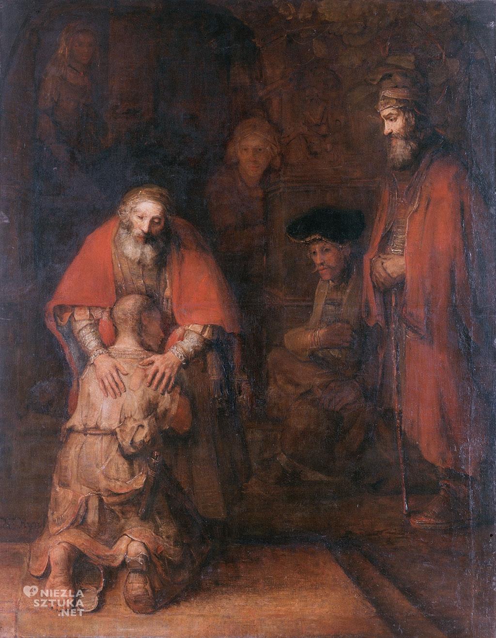 Rembrandt van Rijn <em>Powrót syna marnotrawnego</em> | 1661–1669, 262 cm × 205 cm. Hermitage Museum, Petersburg
