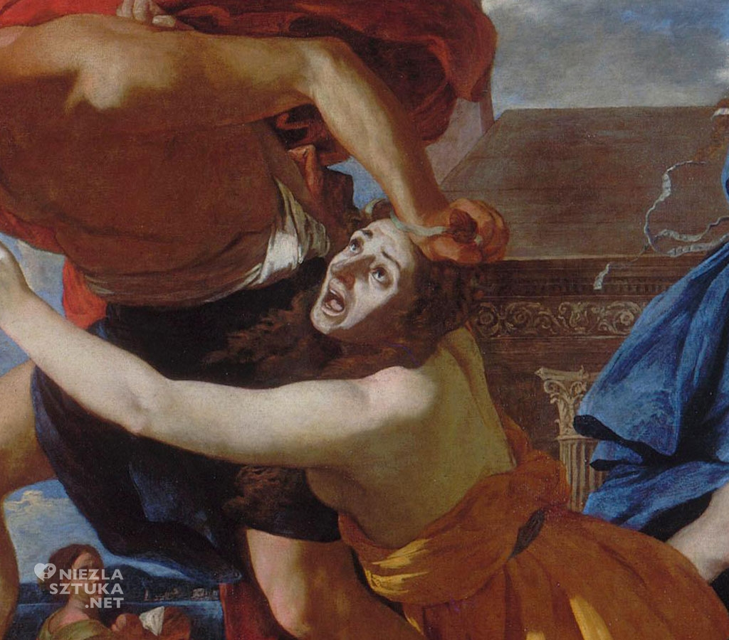 Nicolas Poussin Rzeź niewiniątek, detal | ok. 1628-1629, Musée Condé, Chantilly, Francja