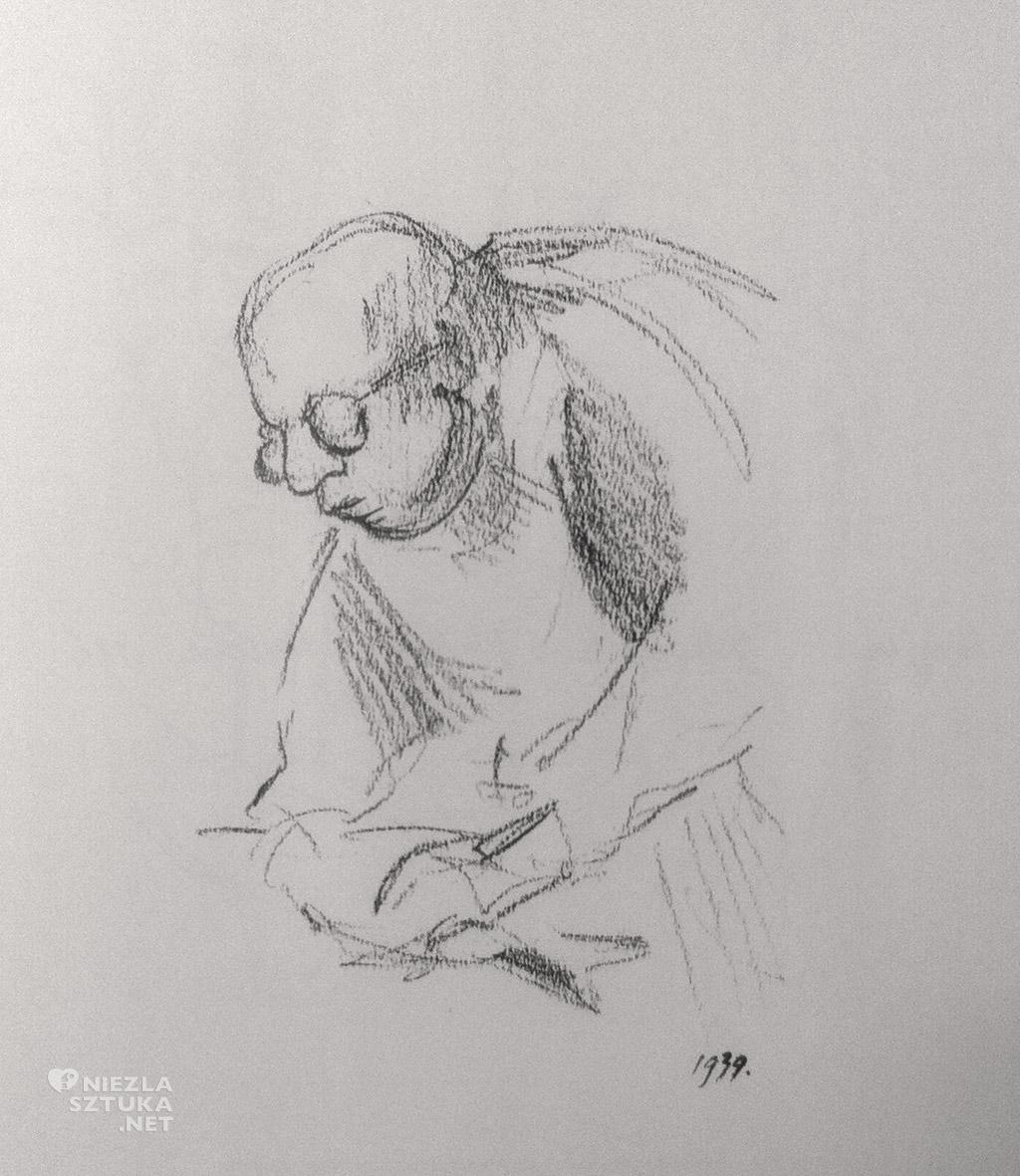 """Andrzej Wajda, pierwszy rysunek, fot. """"Rysunkiz z całego życia"""""""