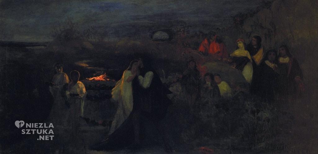 Adam Chmielowski, Ogród miłości, malarstwo polskie, sztuka polska, Niezła Sztuka