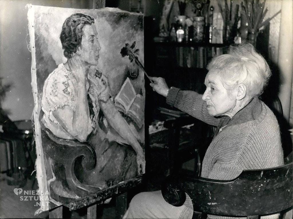 Mela Muter w swojej pracowni ulicy rue Pascal 40 w Paryżu
