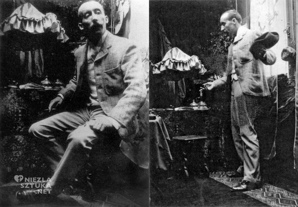 Paul Gauguin pozujący