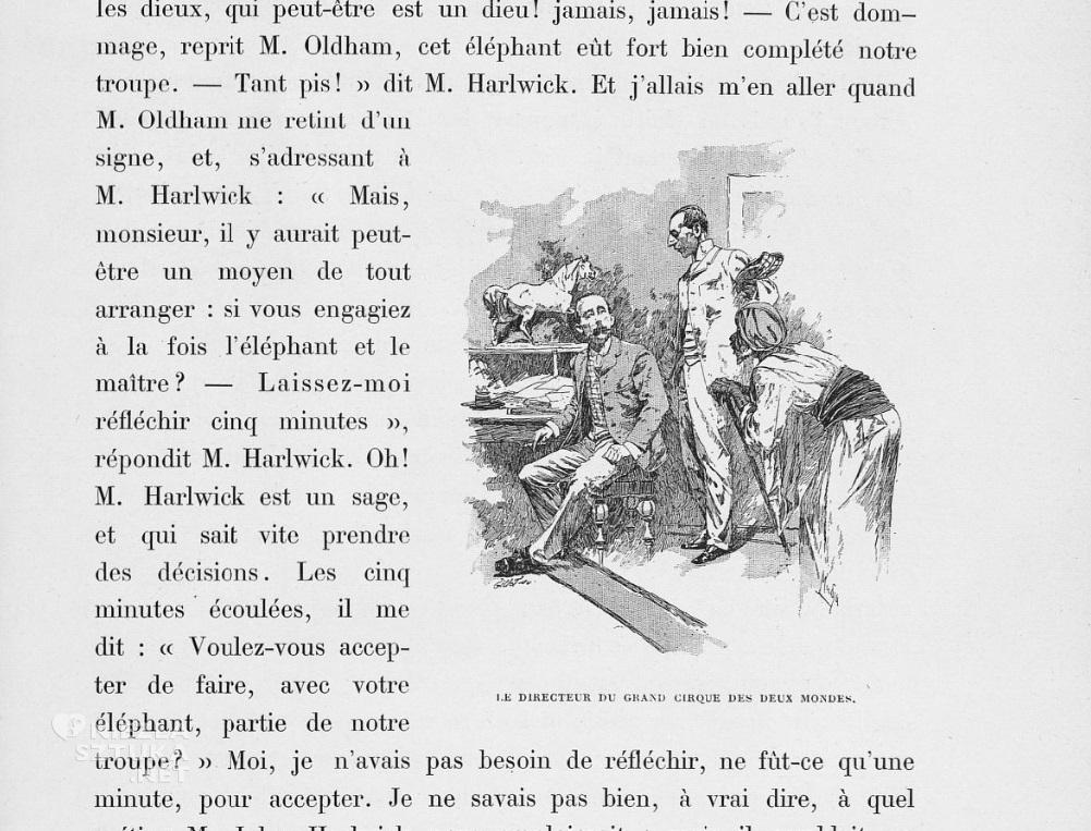 Ilustracja z książki Wspomnienia Białego Słonia