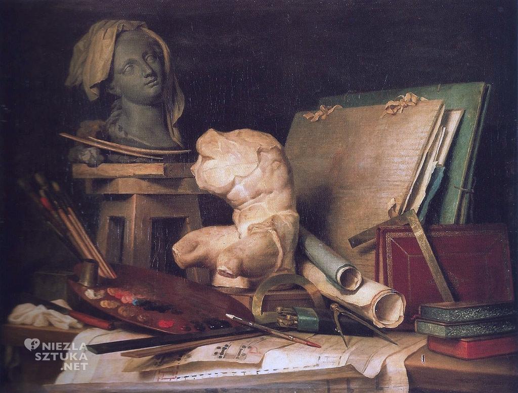 Anne Vallayer-Coster Alegoria malarstwa, rzeźby i architektury | 1769, Luwr, Paryż