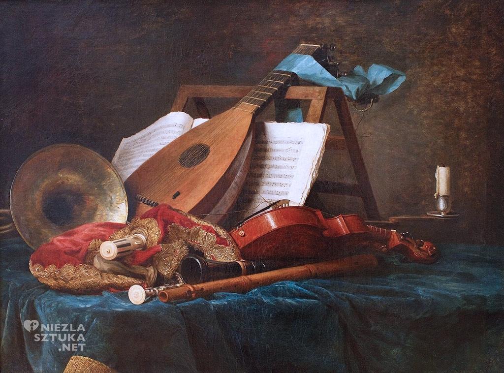 Anne Vallayer-Coster,Atrybuty muzyki,1770, Luwr, Paryż