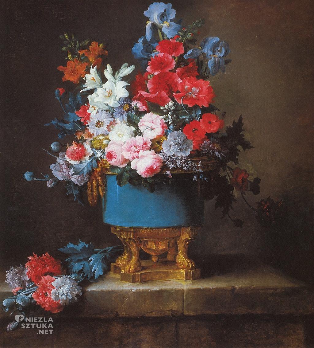 Anne Vallayer-Coster Bukiet kwiatów w niebieskiej porcelanowej wazie | 1776, Muzeum Sztuki w Dallas